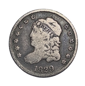 1829 Capped Bust Half Dime VG/F Full Liberty
