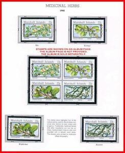 👉 MARSHALL IS. 1985 MEDICINAL HERBS mnh FLOWERS, PLANTS, HEALTH