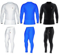 Mens Compression Top Thermal Base Layer Armour Sports Athletic Gym Running Pants