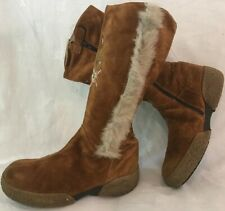 Girls Buckle My Shoe Brown Suede Lovely Boots Size 34 (801ww)