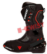 Men's Black LEATHER RACING Motorbike Shoes Motorcycle Boots Custom Made