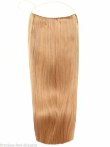 """Dark Blonde #18 20"""" - Halo London 100% Indian Remy Human Hair Extensions Full"""