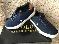 ddd4e5007 Polo Ralph Lauren Hadley boys navy suede lace up Pony sneakers Child 11M  NIB  50