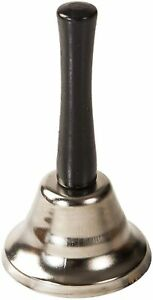 Metal Small Classic Silver Hand Bell (12 cm Tall appx) Classic Call Bell UK New