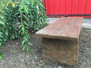 Barnwood Plank Bench Precast Concrete Mold Set - 4 ft
