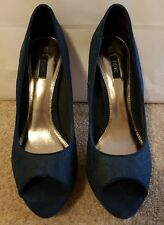 Ladies High Heel Shoes by Next Navy Blue size 5 1/2 - 38 1/2 - 5.5