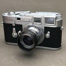 Leica FISON  Black Paint Clamp-on Lens Hood For Elmar 5 cm Leitz ORIGINAL
