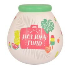 Pot Of Dreams Ceramic Gift Money Box/ Pot HOLIDAY FUND (52066)  Break To Open