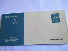 Benz Carnet D'Entretien W 114 115/8 200 230.4 Scheckheft Livre de Manuel Service