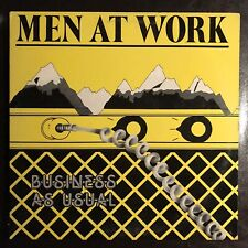 Men At Work BUSINESS AS USUAL Vinyl LP 1st Press PLAY TESTED Who Can It Be Now