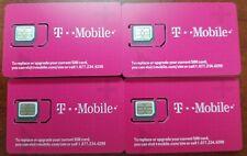 1 NEW T-Mobile FACTORY NANO SIM SIZE. REPLACEMENT SIM ALL tmobile sim size