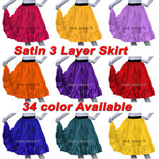 Satin Short 3 Layer skirts For Women Casual wear sexy party wear short skirt S62
