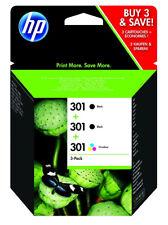 Cartucho de tinta original HP 301 tres colores
