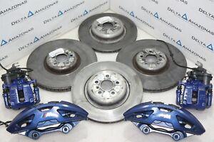 BMW X5 G05 M Sport Blue Brake Set Caliper Housing Ventilated Disc Bremsscheibe
