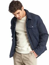 GAP NWT  INK  ICON QUILTED DENIM JACKET COAT  M