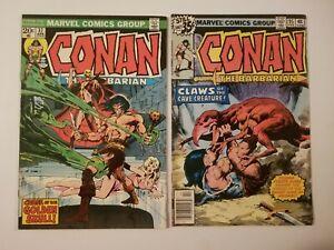 Conan the Barbarian #37 (1974) & #95 (1978) Bronze Age Comic Lot Sale