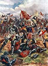 El rey Henry V batalla de Agincourt Francia 1415 7x5 Pulgadas impresión Harry Payne 1915