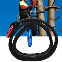 22KN Rock Tree Climbing Rescue Wire Lanyard Safety Rope with Two Hanging Rings