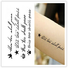 Removable Stickers Waterproof English Words #always# Temporary Tattoos Body Art,