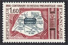 France 1966 Paris Pneumatic Postal System Centenary Map Stamp #1168 YT 1498 MNH