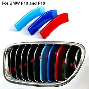 BizTech® Clip In Grill inserts Stripes For BMW 5 Series 14-16 F10 F18 M Power