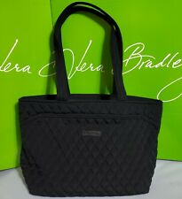 NWT $109 Vera Bradley Mandy Tote quilted top zip Bag : CLASSIC BLACK
