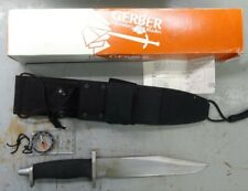 "GERBER BMF 9"" KNIFE -NO.5925 - WITHOUT SAW TEETH - IN BOX WITH SHEATH  - #K80"