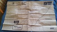 Road Map City Street RICHLAND COUNTY MANSFIELD OHIO 1997 Double Sided