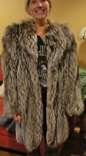 Beautiful Condition Yves Saint Laurent *Silver Fox Fur Coat Fits SM - X-LG
