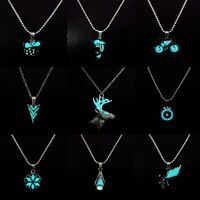 Fluorescent Glow In The Dark Necklace 12 Style Angel/Arrow/Star Pendant Jewelry