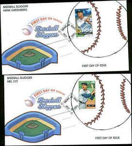 US FDC #4080 - #4083 Set of 4 Homespun Cachets Bronx, NY  Baseball Sluggers