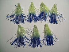 "7  2"" MINI TERMINATOR QUICK CHANGE/ FISHING SKIRTS - CHARTREUSE BLUE SKIRTS"