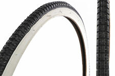"PAIR 28 x 1 1/2""(40- 635) WHITEWALL TYRES FOR VINTAGE ROADSTER CLASSIC BIKE RARE"