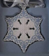 WEDGWOOD Jasperware 2013 White/Blue Snowflake Christmas Ornament NIB/NO DATE
