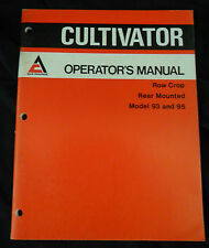 Allis-Chalmers Operator's Manual Cultivator Row Crop Rear Mounted Model 93 & 95