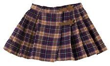JACADI Girl's Sore Narine Blue and Beige Pleated Plaid Skirt Size 6 Yrs NWT $79