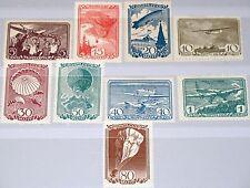 Russia Unión Soviética 1938 637-45 678-86 Soviet Airpost vuelo post aircrafts mlh