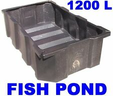 LARGE KOI CARP FISH POND 1200 LITRE BLACK POLY FEATURE TANK 2 Mtr x1.2 x0.5 DEEP