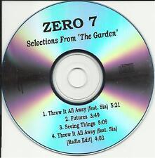 SIA ZERO 7 SAMPLER 4TRX w/ EDIT TST PROMO DJ CD Single