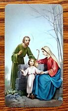 ANTIQUE SERIE AURORA 14 HOLY CARD YOUNG JESUS WITH MARY & JOSEPH