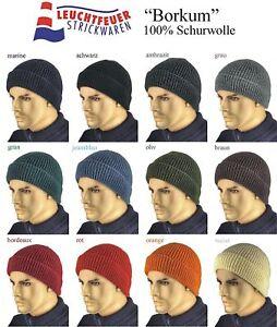 Wollmütze Seemanns Mütze Borkum 100% Schurwolle