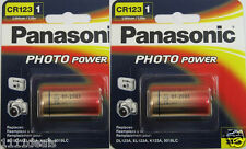2 Panasonic CR123 CR123A 123 Lithium Photo 3V Batteries Expires 2023