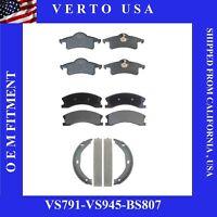Front & Rear Brake Pads  & Brake Shoes Jeep Grand Cherokee 1999-2004 Akebono Cal