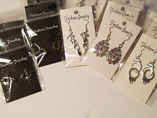 Wholesale Bulk Lot 20 pair Halloween Earrings - Spiderweb, Skeleton, Vampire