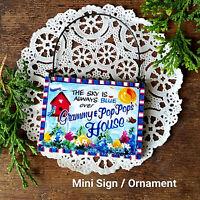 DECO Mini  Sign GRAMMY  POPPOP POP POP's Gift Sign Wood Ornament Peg Hanger USA