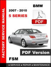 2007 2008 2009 2010 BMW 5 SERIES 535i 535i GT 535xi SERVICE OEM REPAIR MANUAL