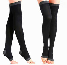 Women Slim Leg Sleep Compression Socks Spider Varicose Veins Thigh High Stocking