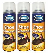 3x Trainer Boot Shoe Cleaner Spray For Fabric Leather Suede Nubuck Microfibre