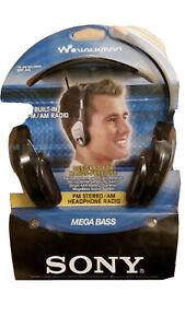 New Vintage Sony Walkman SRF-H4 FM Stereo/ Am Headphone Radio Mega Bass