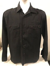 Oakley Men's M Shirt Button Down Military Black Long Sleeve Science And Art 075